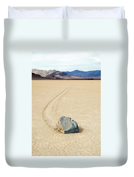 Death Valley Racetrack Duvet Cover