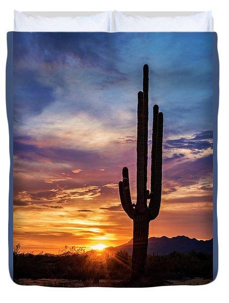 Duvet Cover featuring the photograph Desert Beauty  by Saija Lehtonen