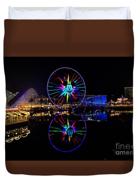 Disney California Adventure Mickey's Fun Wheel Duvet Cover
