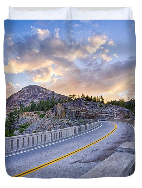 Donner Memorial Bridge Duvet Cover