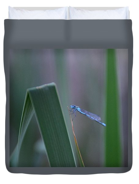 Duvet Cover featuring the photograph Dragonfly by Nikki McInnes