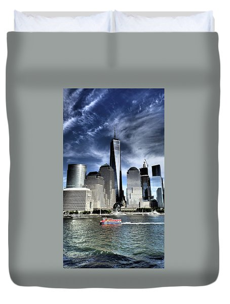 Dramatic New York City Duvet Cover