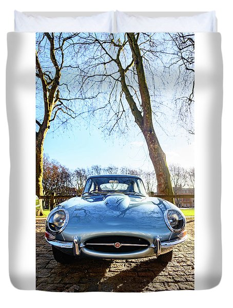 E Type Jaguar Duvet Cover