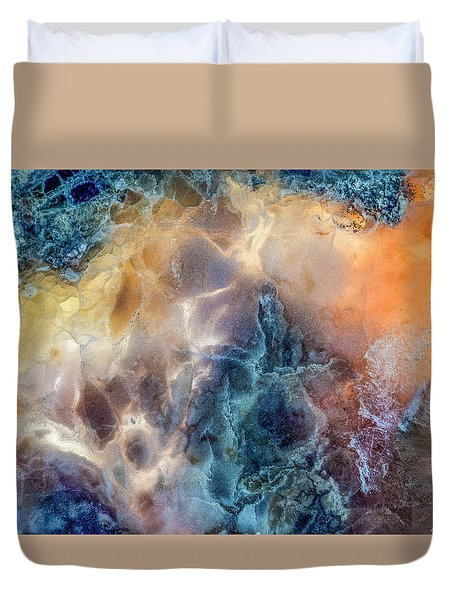 Duvet Cover featuring the photograph Earth Portrait by David Waldrop