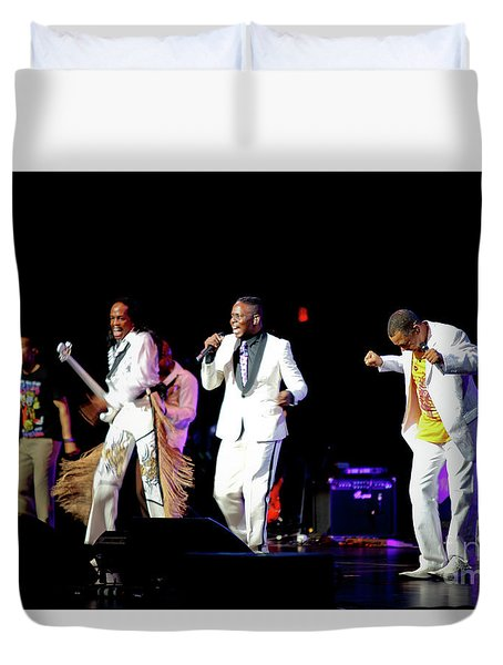 Earth Wind And Fire Duvet Cover by April Sims