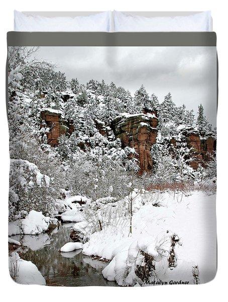 East Verde Winter Crossing Duvet Cover