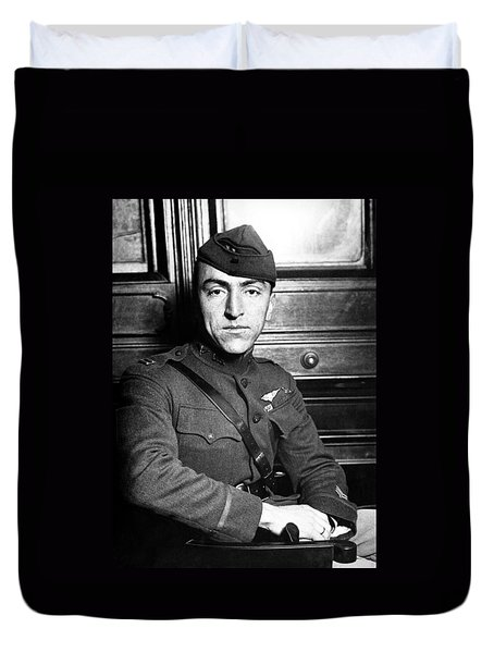 Duvet Cover featuring the photograph Eddie Rickenbacker by War Is Hell Store