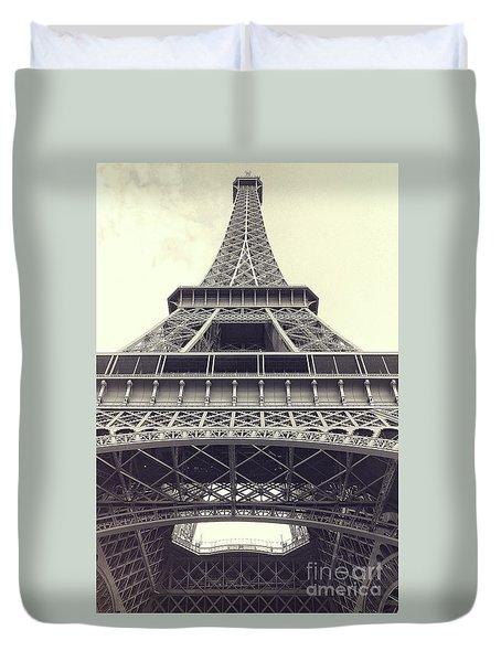 Eiffel Tower By The Seine Duvet Cover