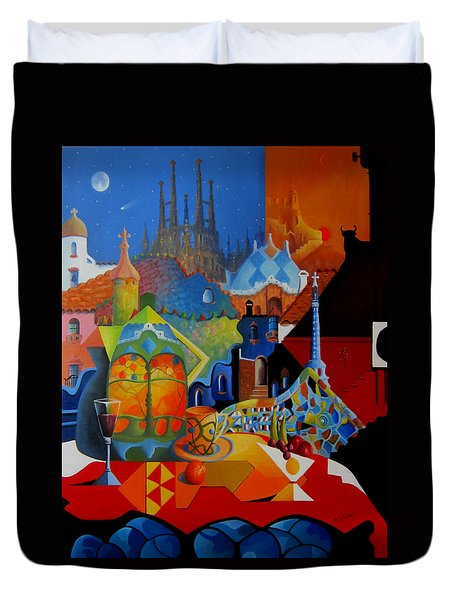 El Barcelona De Gaudi Duvet Cover by Joe Gilronan
