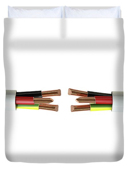 Electrical Cable Cut Duvet Cover