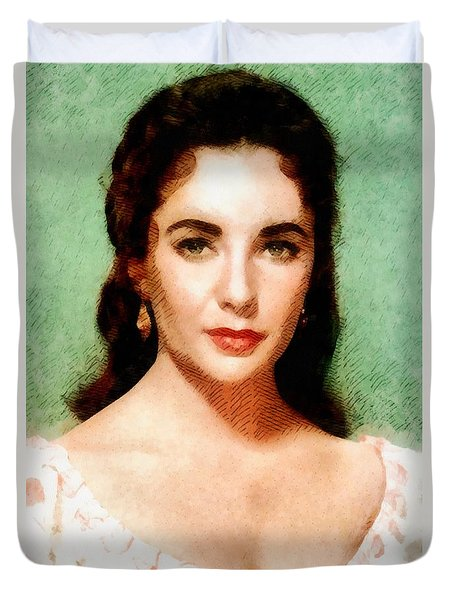 Elizabeth Taylor Hollywood Actress Duvet Cover
