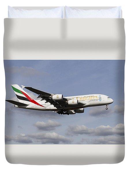 Emirates A380 Airbus Duvet Cover