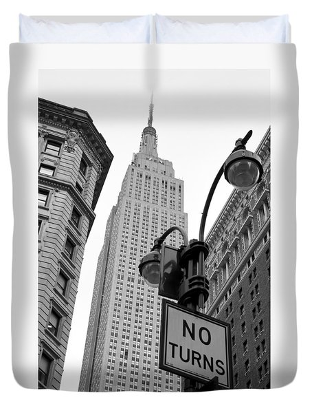 Empire State Building Duvet Cover by Michael Dorn