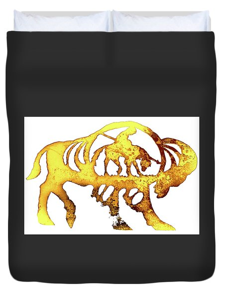 End Of The Trail Duvet Cover by Larry Campbell