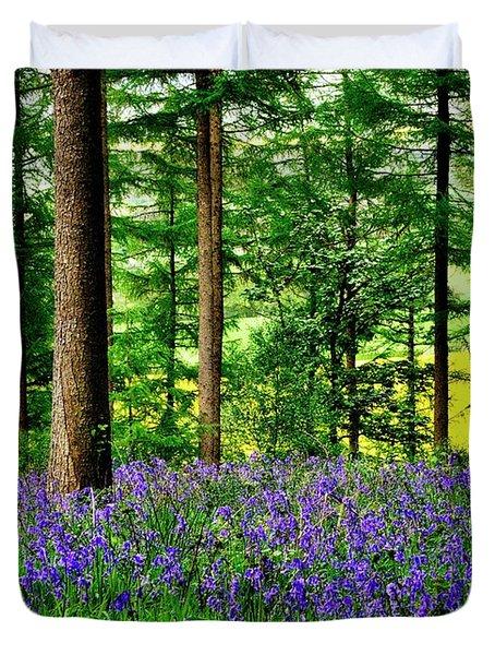 English Bluebell Wood Duvet Cover