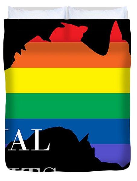 Equal Rights Australia Duvet Cover
