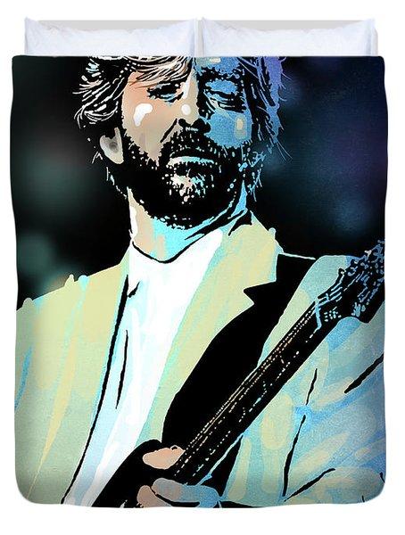 Eric Clapton Duvet Cover by Paul Sachtleben