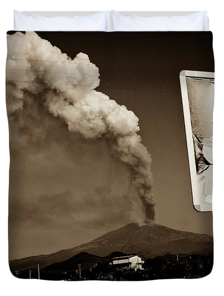 Etna, The Volcano Duvet Cover