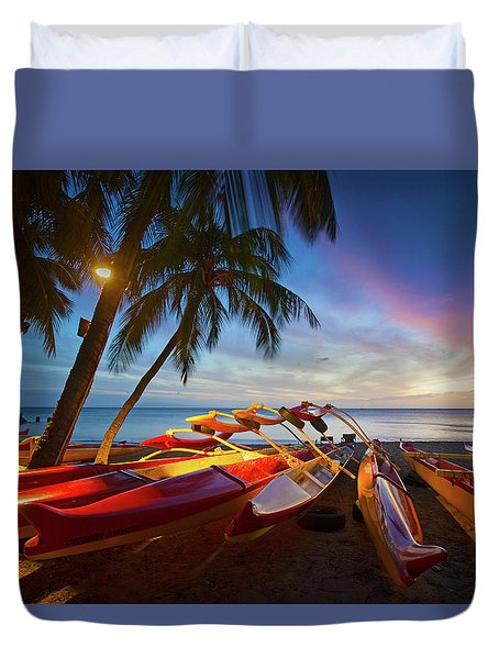 Evening Falls Duvet Cover by James Roemmling
