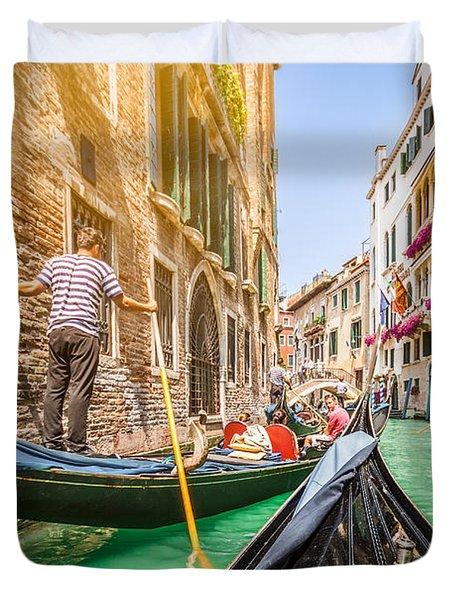 Exploring Venice Duvet Cover by JR Photography