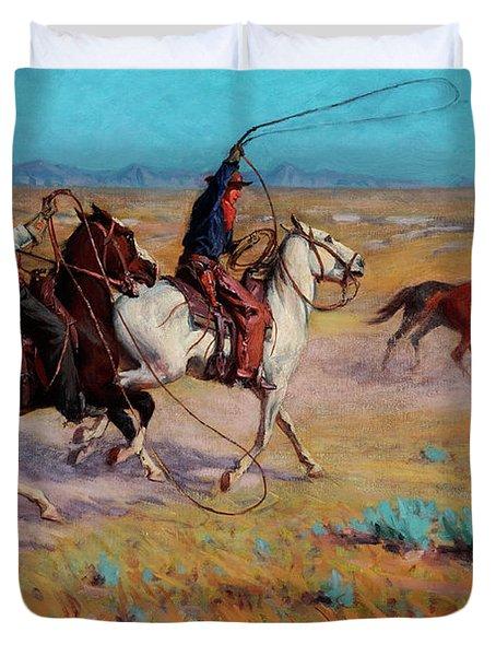 Fading Horses Duvet Cover