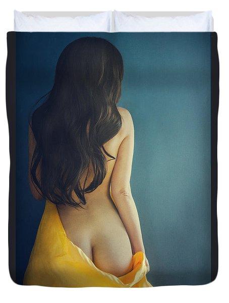 Female Body Duvet Cover