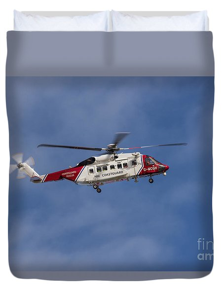 Final Approach Duvet Cover by David  Hollingworth