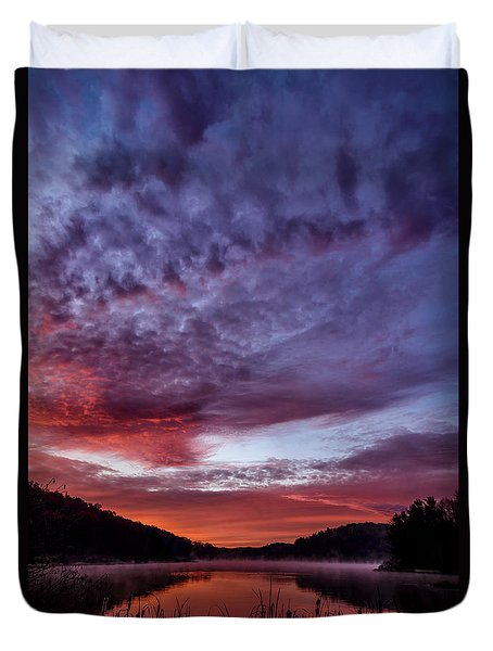 First Light On The Lake Duvet Cover by Thomas R Fletcher