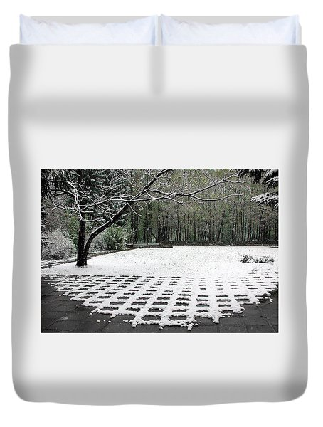 First Snow Fall Duvet Cover