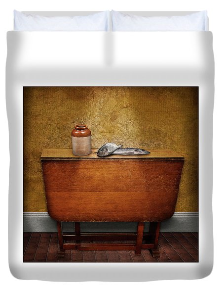 2 Fish And A Jug Duvet Cover