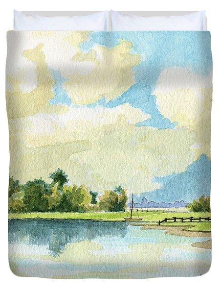 Fishing Lake Duvet Cover