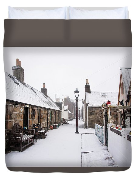 Fittie In The Snow Duvet Cover