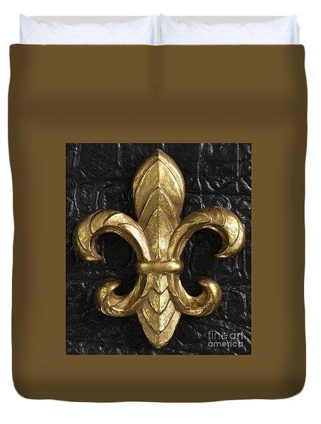 Gold Fleur-di-lis Duvet Cover