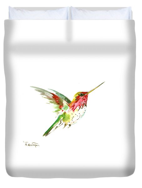 Flying Hummingbird Duvet Cover