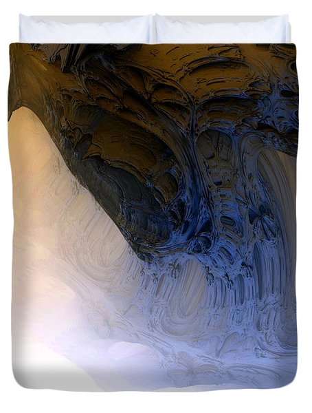 Fog In The Cave Duvet Cover