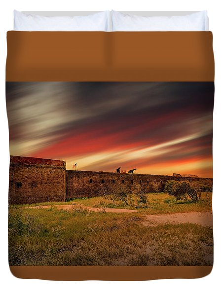 Duvet Cover featuring the photograph Fort Clinch by Peter Lakomy