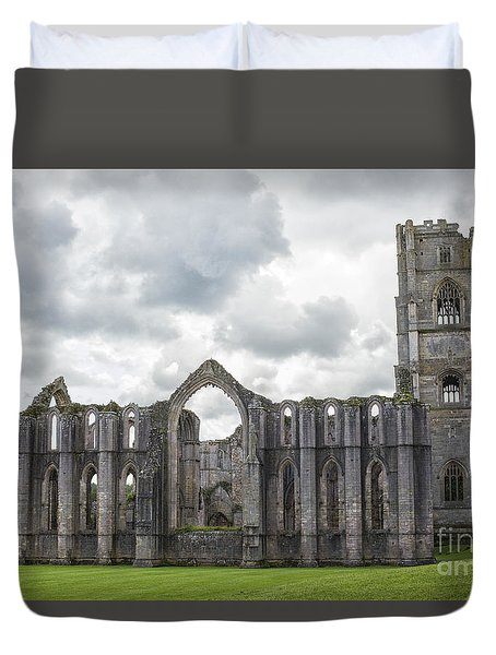 Fountains Abbey Yorkshire Duvet Cover by Patricia Hofmeester
