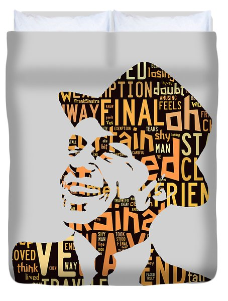Frank Sinatra I Did It My Way Duvet Cover by Marvin Blaine