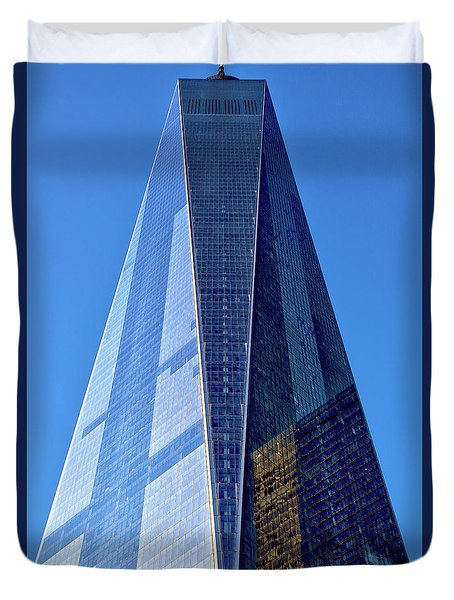 Duvet Cover featuring the photograph Freedom Tower by Mitch Cat