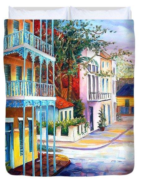 French Quarter Sunrise Duvet Cover by Diane Millsap