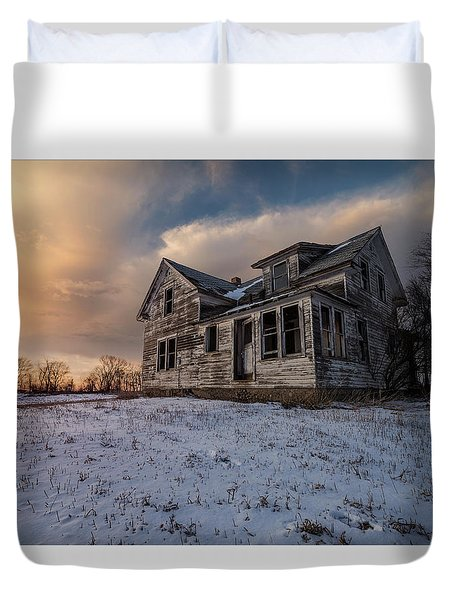 Duvet Cover featuring the photograph Frozen And Forgotten by Aaron J Groen