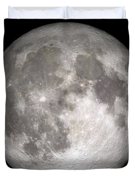 Duvet Cover featuring the photograph Full Moon by Stocktrek Images