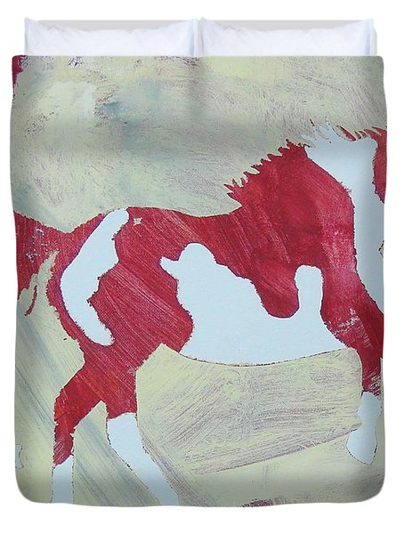 Galloping Pinto Duvet Cover