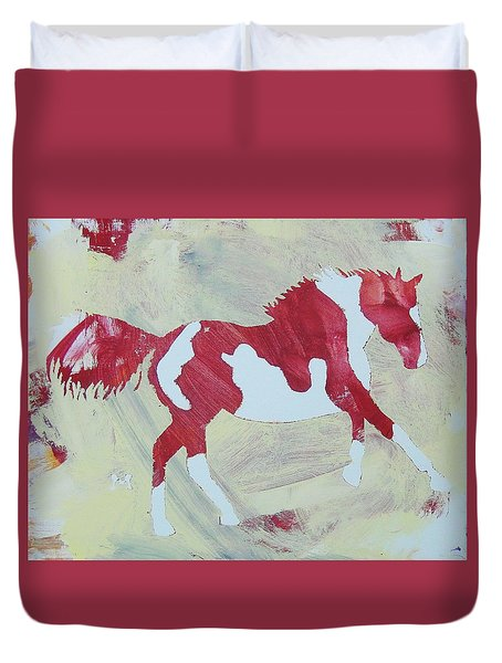 Galloping Pinto Duvet Cover
