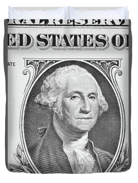 Duvet Cover featuring the photograph George Washington by Les Cunliffe