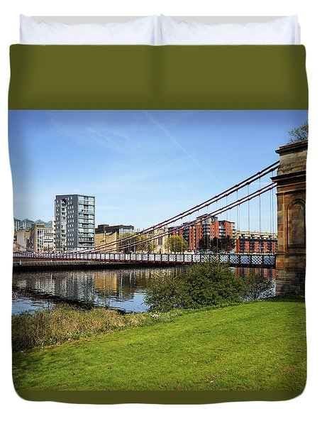 Duvet Cover featuring the photograph Glasgow by Jeremy Lavender Photography