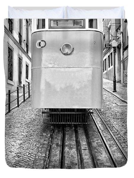 Gloria Funicular Duvet Cover by Jose Elias - Sofia Pereira