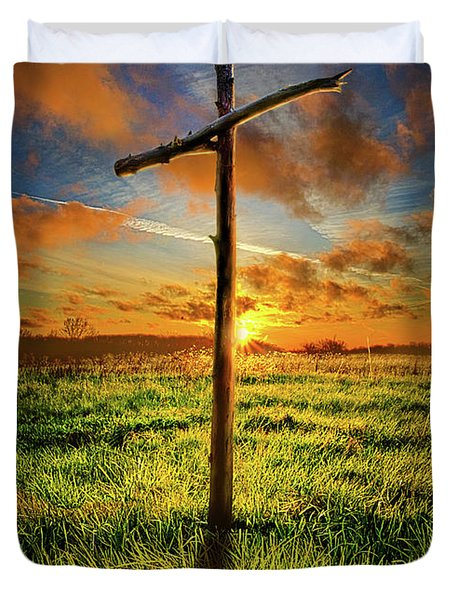 Duvet Cover featuring the photograph Good Friday by Phil Koch