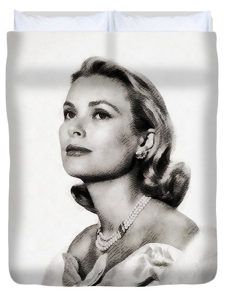Grace Kelly, Vintage Hollywood Actress Duvet Cover by John Springfield