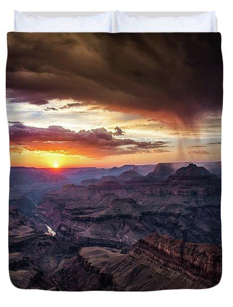 Grand Canyon Monsoon Sunset Duvet Cover